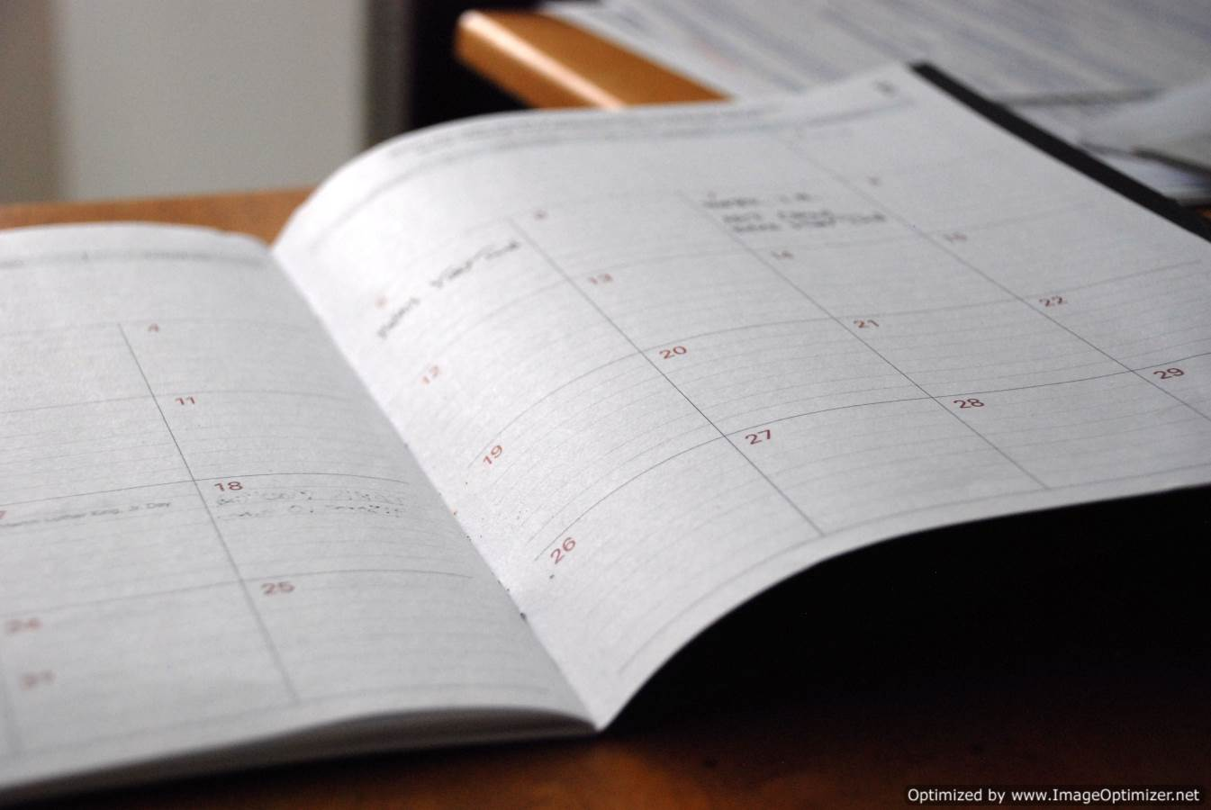 Calendario para personas mayores