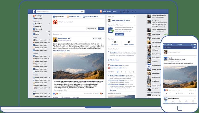 Cronologia de Facebook