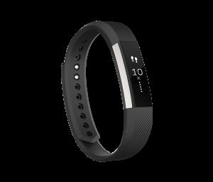 Fitbit Alta negra, vista de perfil