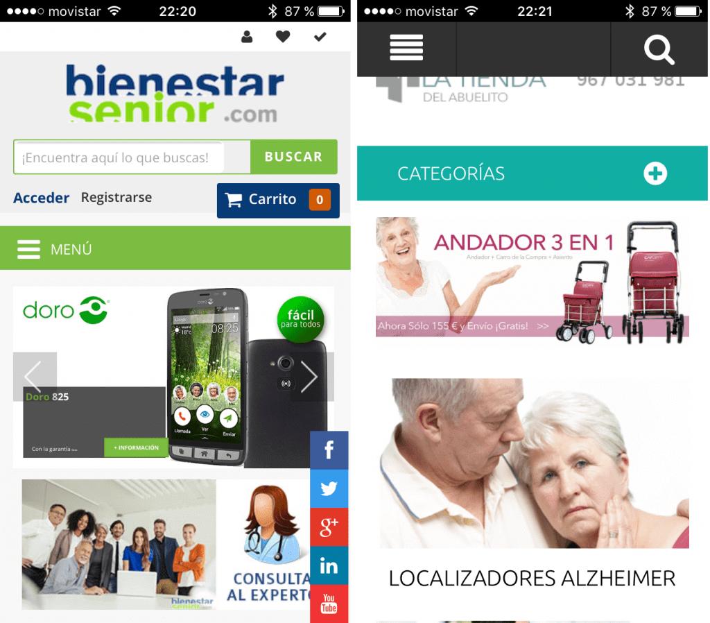 Compras por Internet para las personas mayores