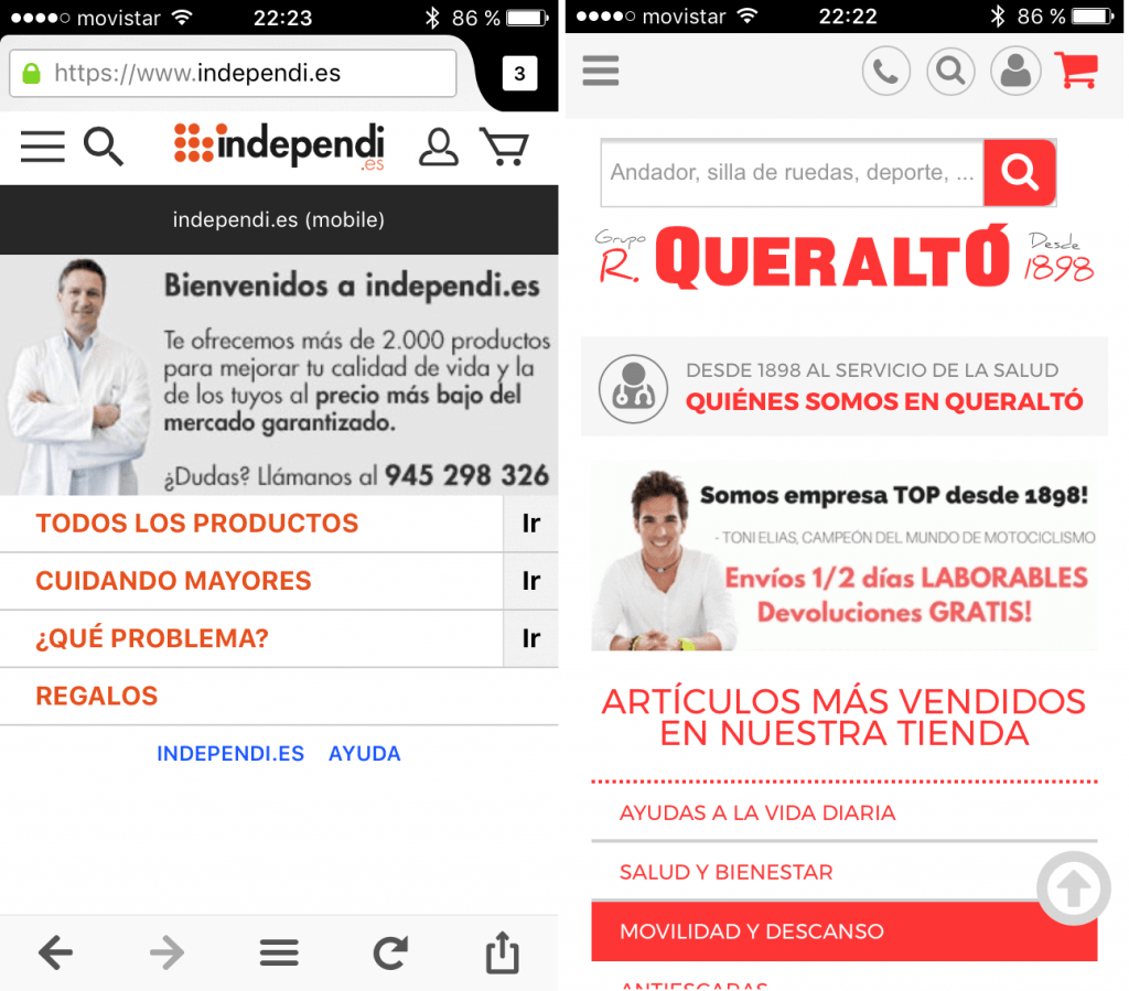 Ortopedias en Internet