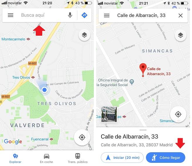 Como llego. Google Maps