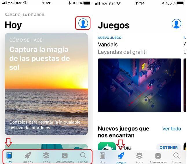 App Store. Hoy y Juegos
