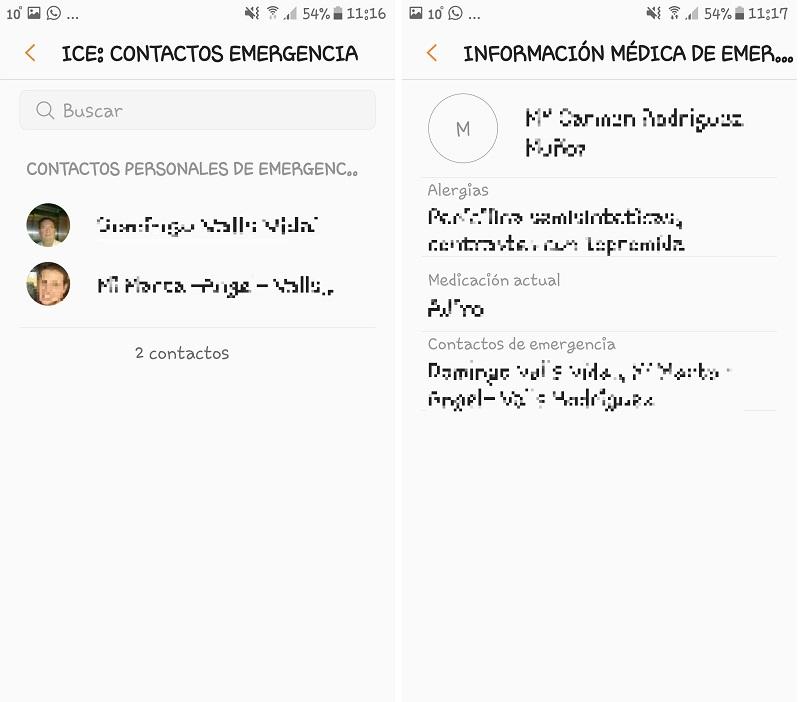 Android. Acceder a contactos y datos médicos