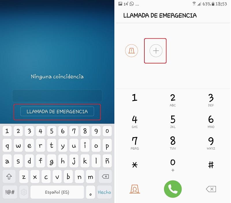 Android. Configurar llamada de emergencia