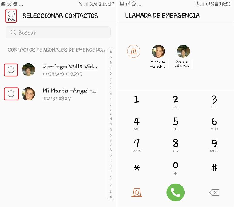 Android. Selección de contactos