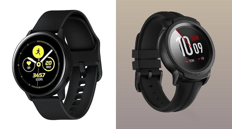 Fotos de Samsung Galaxy Watch Active y Mobvoi TicWatch E2